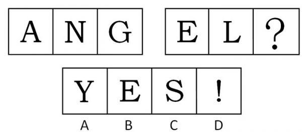 英语字母组成的问号矢量图